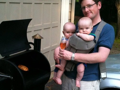 Traeger with twins
