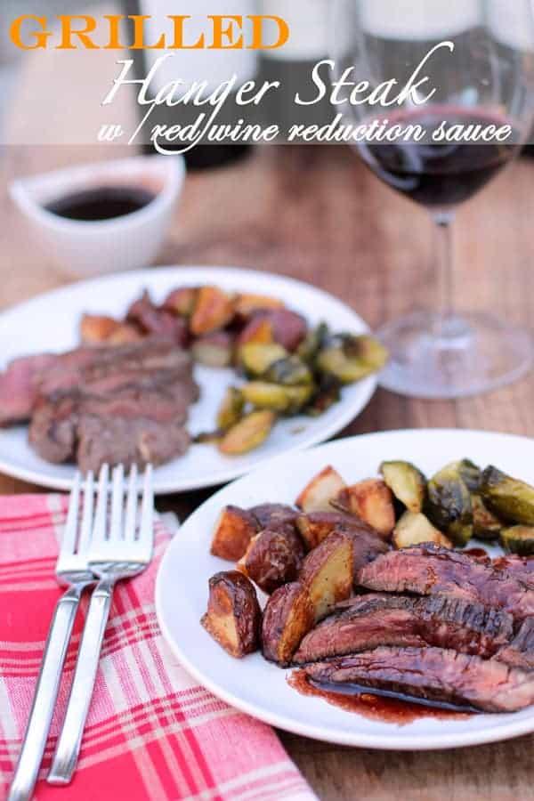 Grilled Hanger Steak with Red Wine Reduction Sauce & Cabernet Sauvignon Bonanza
