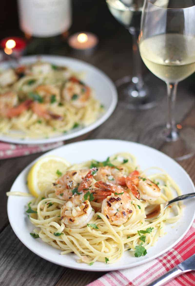 Grilled Shrimp Pasta and Wine Pairing