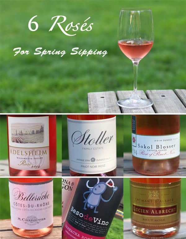 6 Rosés for Spring Sipping from Vindulgeblog.com