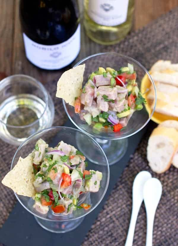 Ahi Tuna Ceviche and Wines to Pair