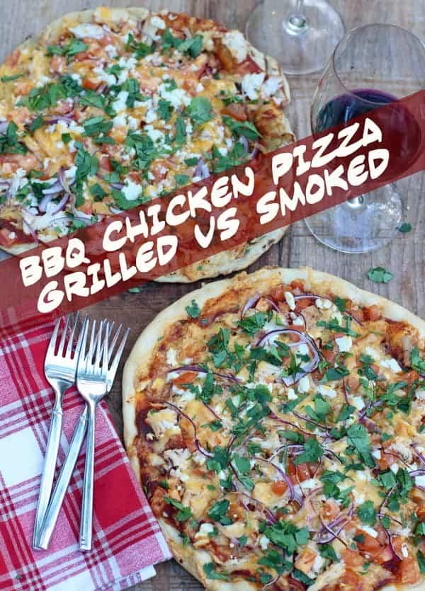 BBQ Chicken Pizza, Grilled vs Smoked | vindulgeblog.com