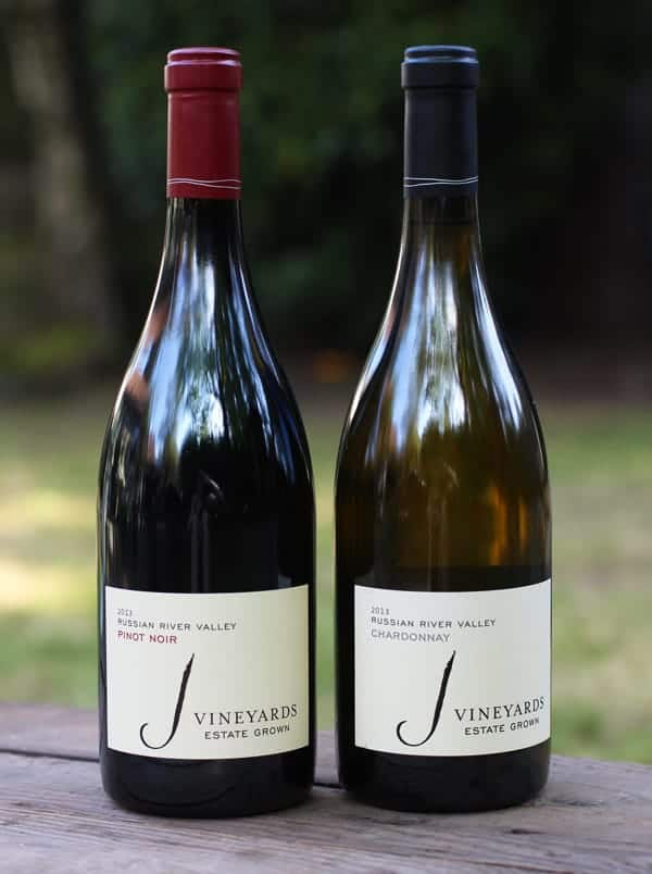 J Vineyards 2013 Russian River Pinot Noir and Chardonnay