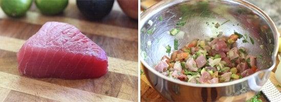 Making Ahi Tuna Ceviche