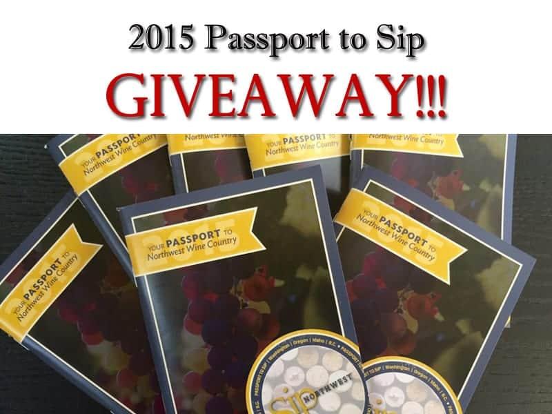 Win a 2015 Passport to Sip, good for free tasting fees at 170 wineries in Washington, Oregon, Idaho, and British Columbia |   via  Vindulgeblog.com