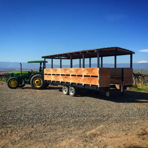 Touring Red Willow Vineyard in style