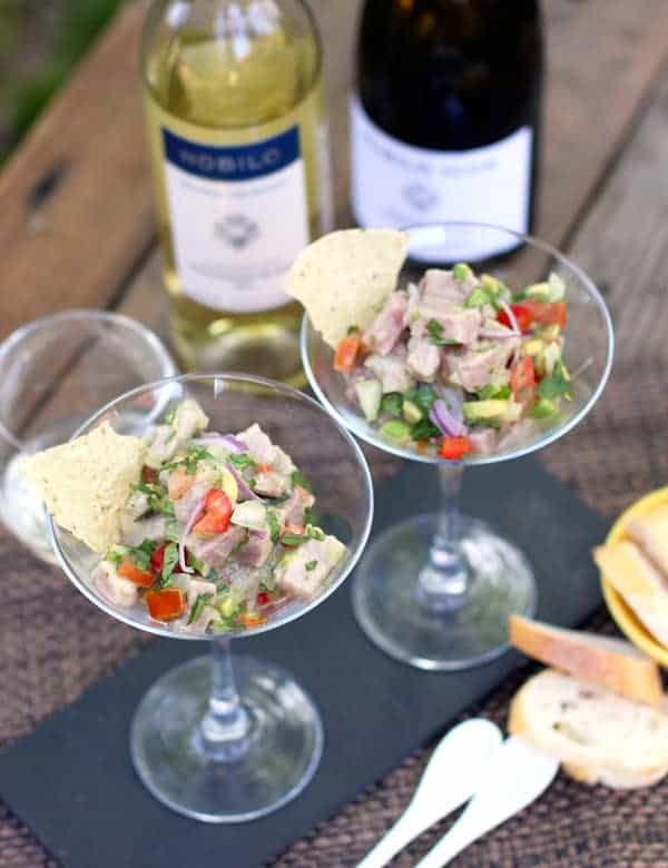 Tuna Ceviche Recipe and Wine Pairing | vindulgeblog.com