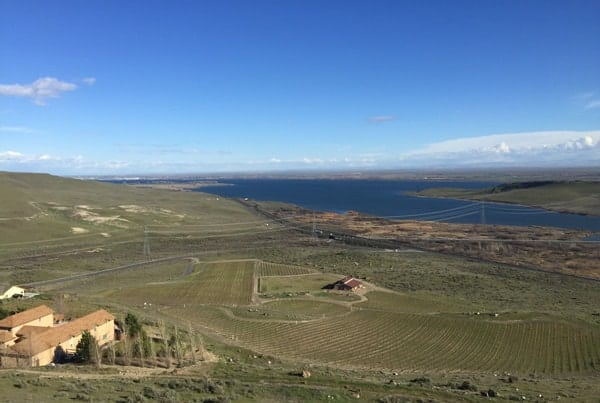 View of Columbia River from Horse Heaven Hills AVA