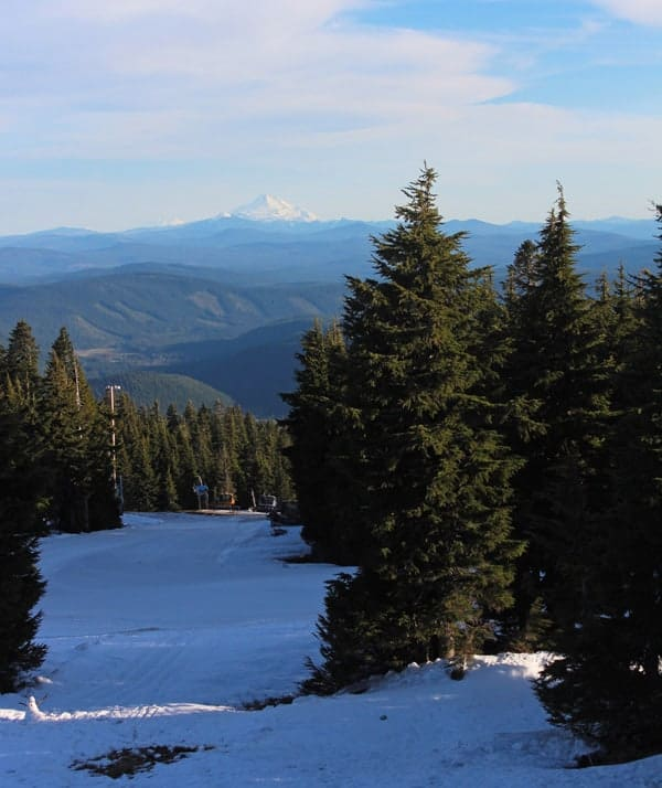 View from Timberline Lodge ski area