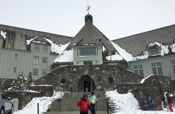 Timberline Lodge entrance