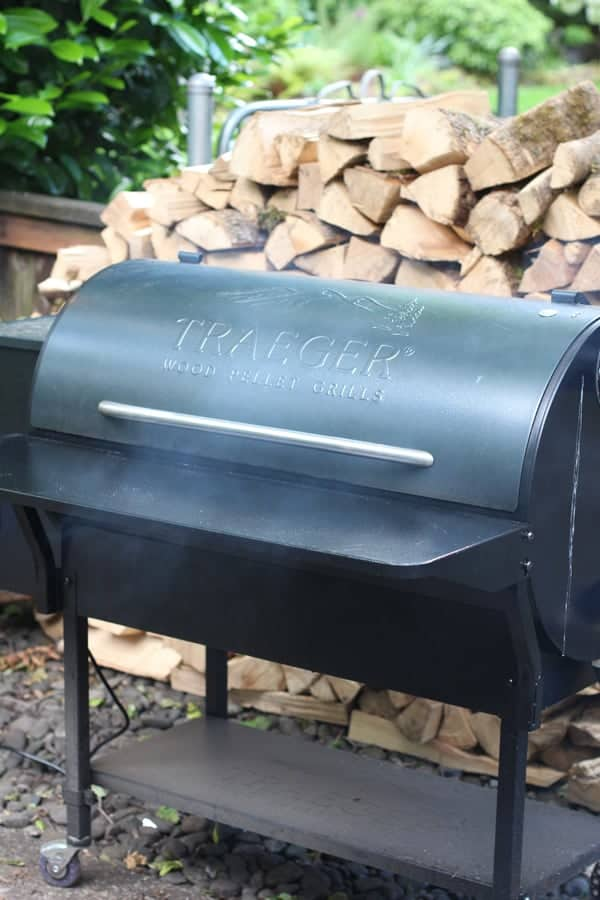 Using a Traeger Pellet Smoker to Roast a Chicken, picture of a Traeger Smoker