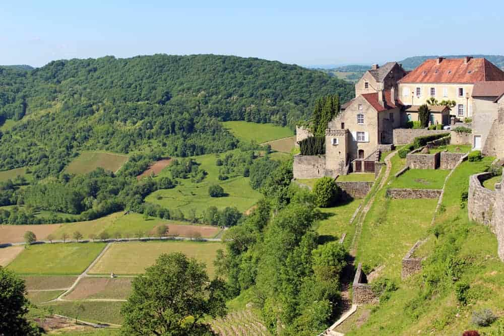 Jura Moutain Region, village of Château-­Chalon