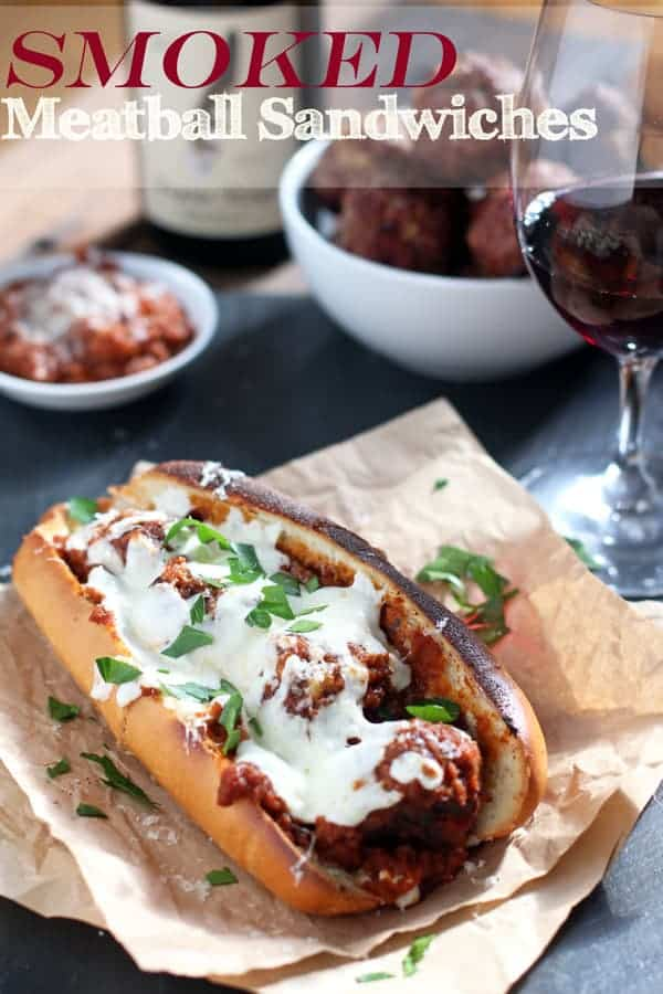 Smoked Meatball Sandwiches from vindulgeblog.com