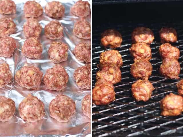 Meatballs on the smoker