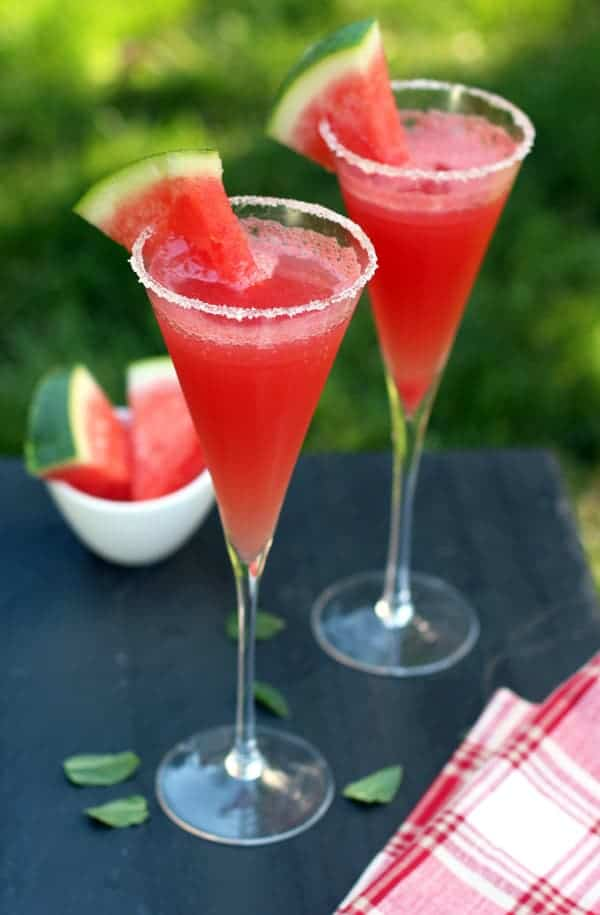 The Sparkling Watermelon Cocktail