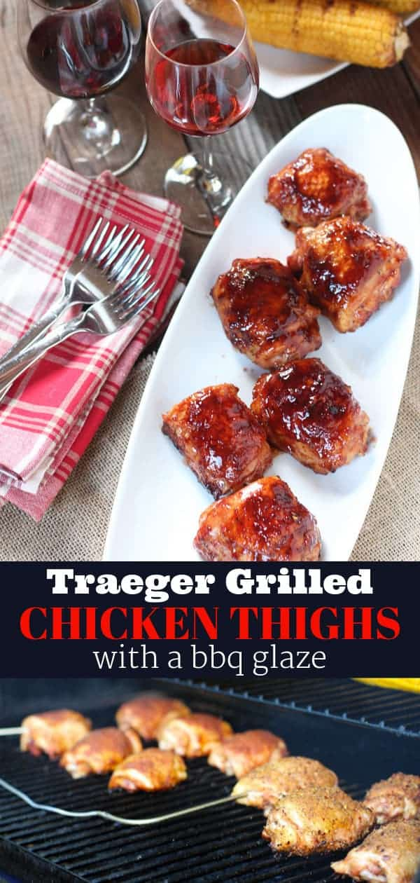 Traeger Grilled Chicken Thighs Pin Image