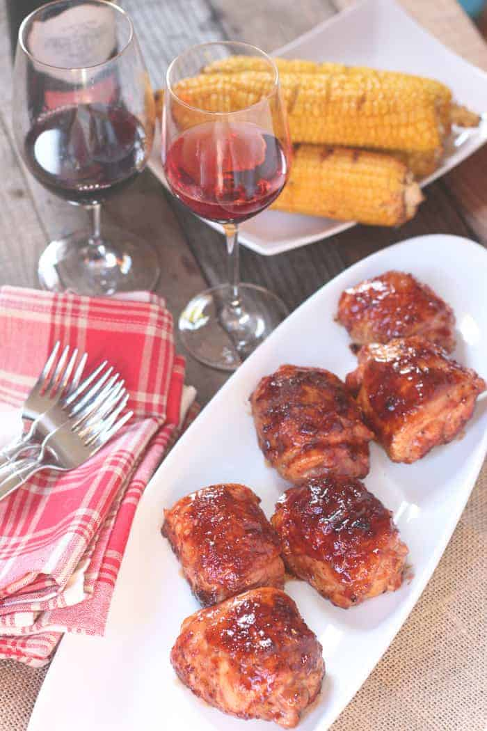 Traeger Grilled Chicken Thighs And Wine Pairing Vindulge