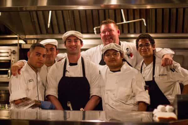 El Gaucho Portland Chef Team. Executive Chef Steve Cain in back