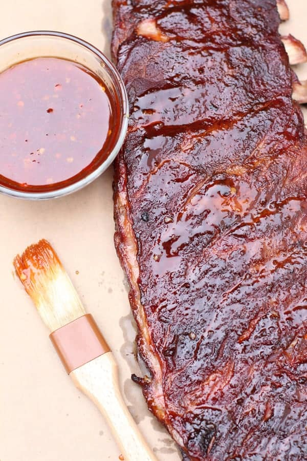 Close up of Asian Spice Smoked Ribs