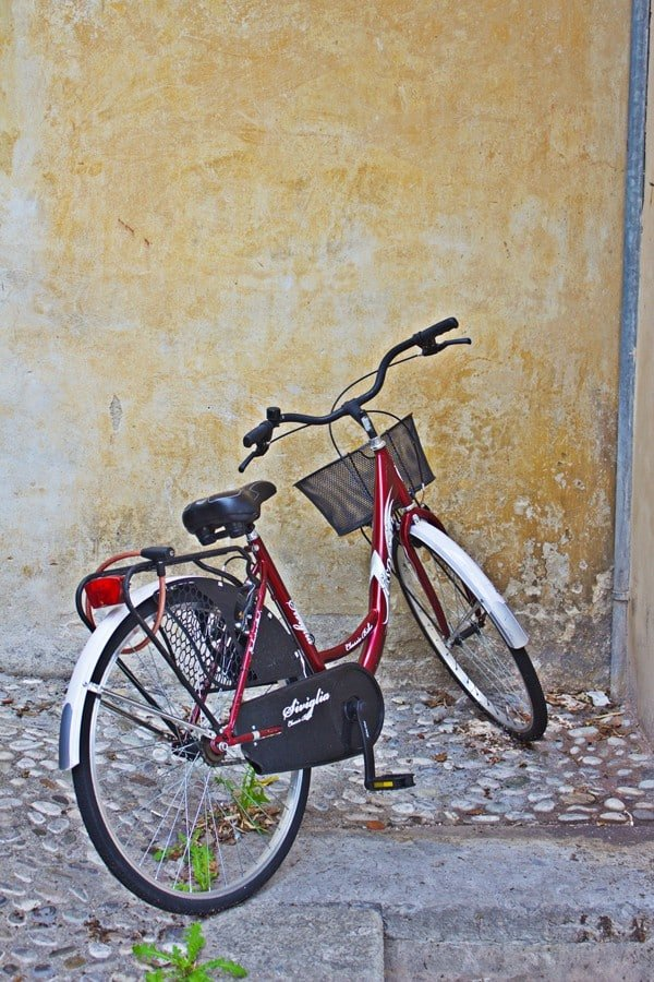 Bicycle on the streets of Conegliano, Italy