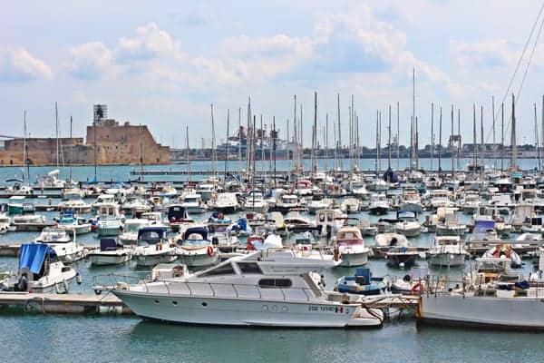 Boats in Brindisi, Salento, Puglia, Italy