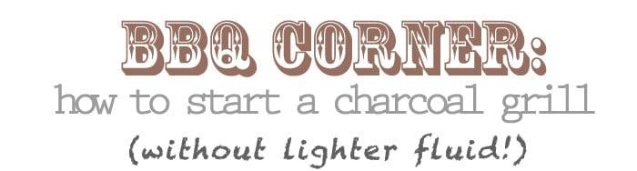 BBQ Corner -- How to start a charcoal grill without lighter fluid | vindulgeblog.com