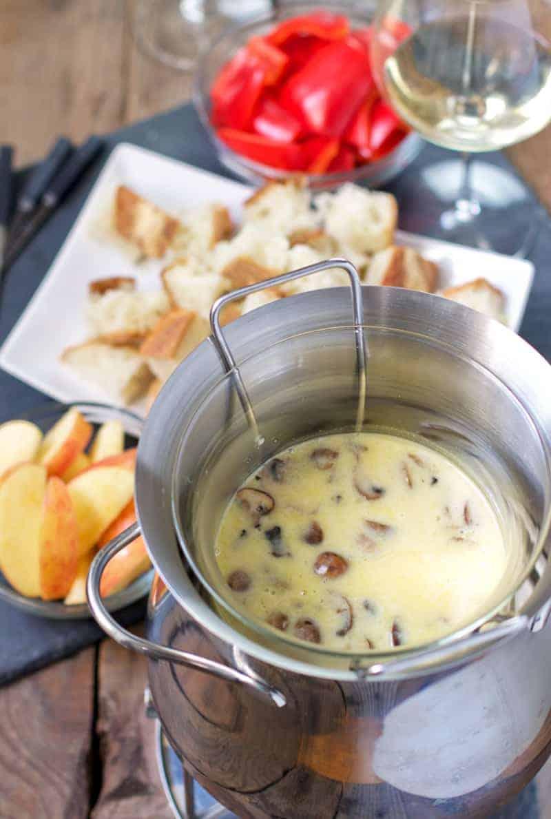 Combat Cheese Fondue and Wine Pairing
