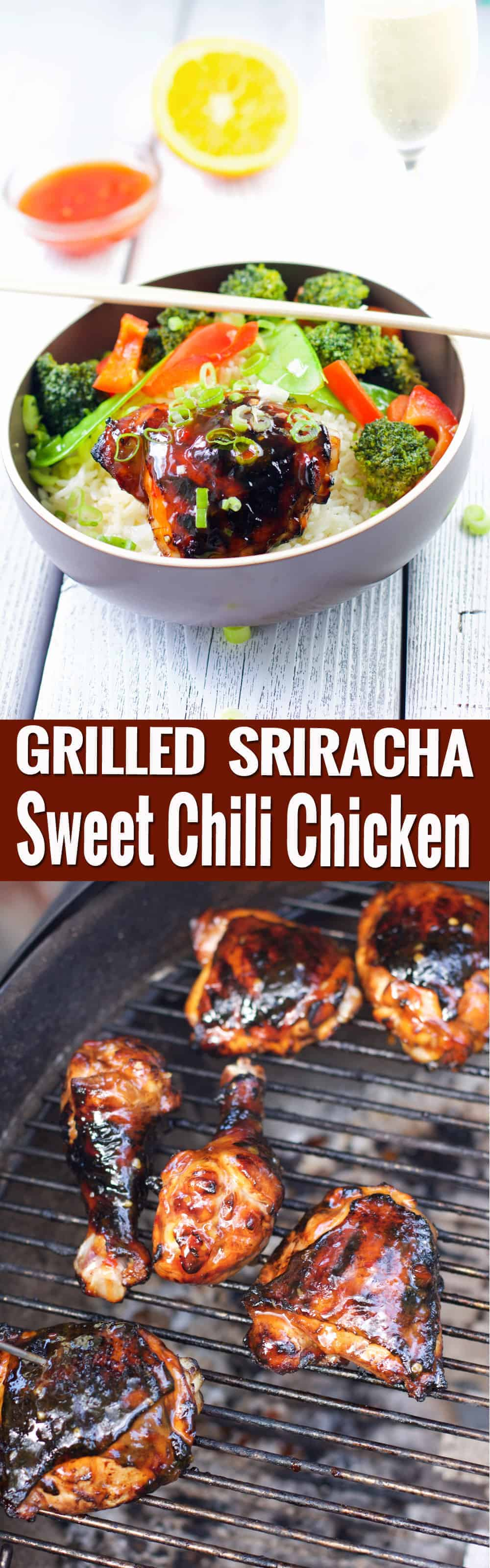 Grilled Sriracha Sweet Chili Chicken. An awesome grilled chicken dish that balances savory, sweet, and spicy flavors. So vibrant and tasty! | vindulgeblog.com