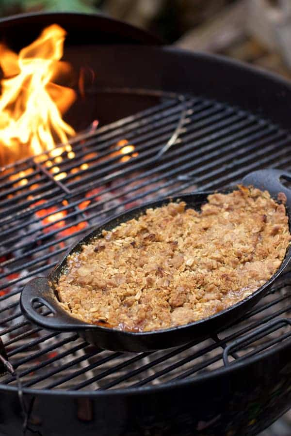 How to Smoke an Apple Crisp on a Grill using Wood Chips. The answer is so easy! And the best part? You don't even need to own a smoker to get smoked flavor into your apple crisp!