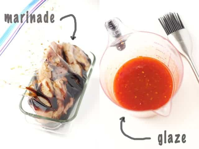 Marinade and Glaze for Sriracha Sweet Chili Chicken