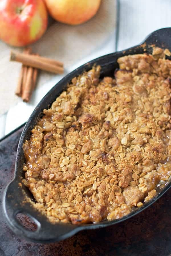 Semi-Smoked Apple Crisp for four people