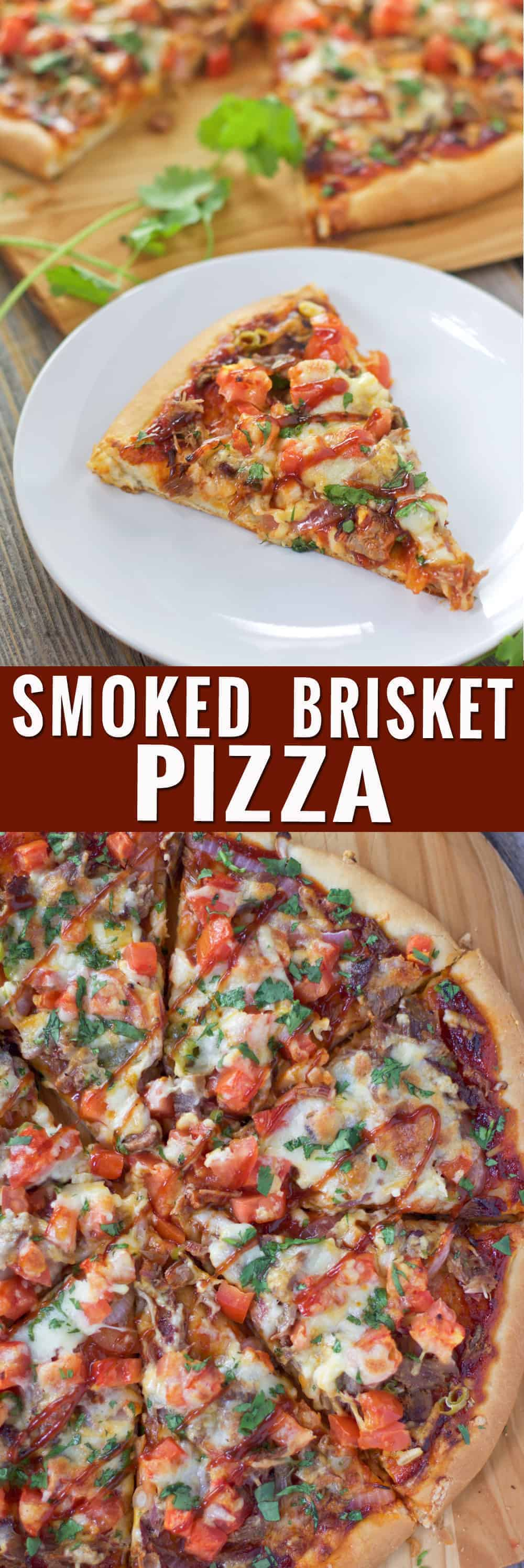 Smoked Brisket Pizza. The perfect use for leftover brisket! Your friends are going to love it!!!