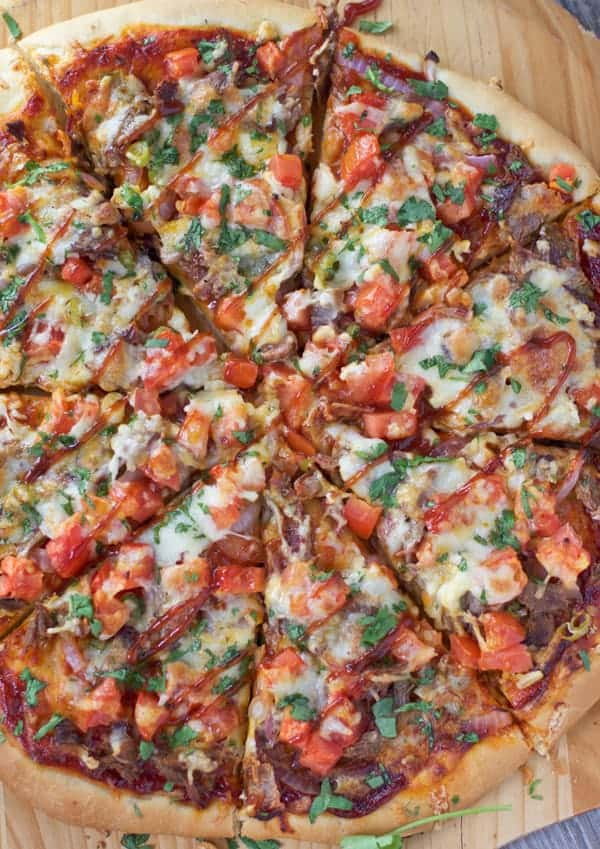 Smoked Brisket Pizza. Oh such the perfect pizza!