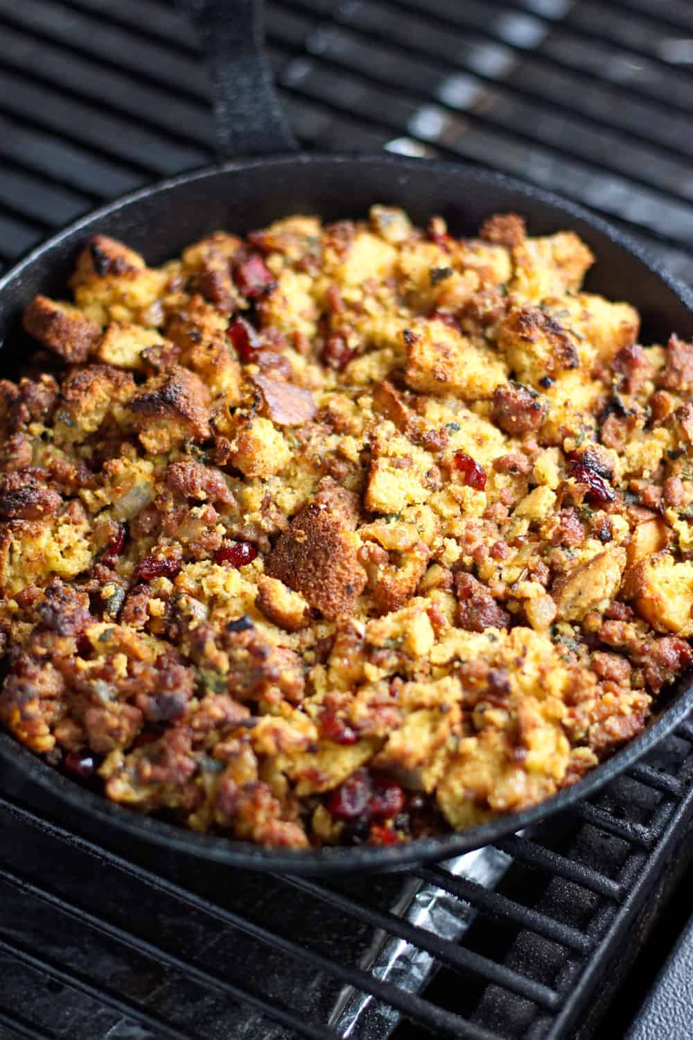 Smoked Sausage and Cornbread Stuffing with Sage and Caramelized Onions