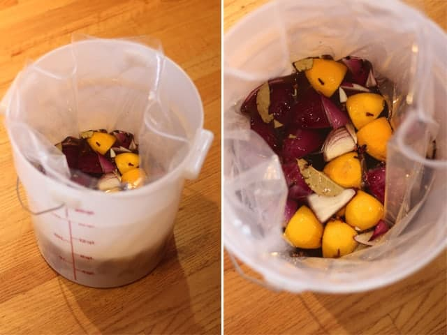 Making a brine for your Thanksgiving Turkey