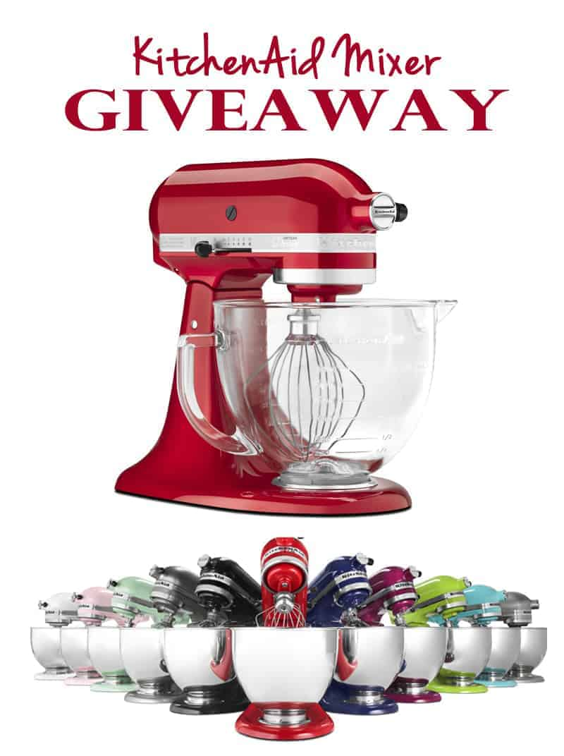 Enter to win a KitchenAid Mixer. Giveaway runs through December 8, 2015. This is my favorite kitchen appliance! You can win one just in time for the holidays!