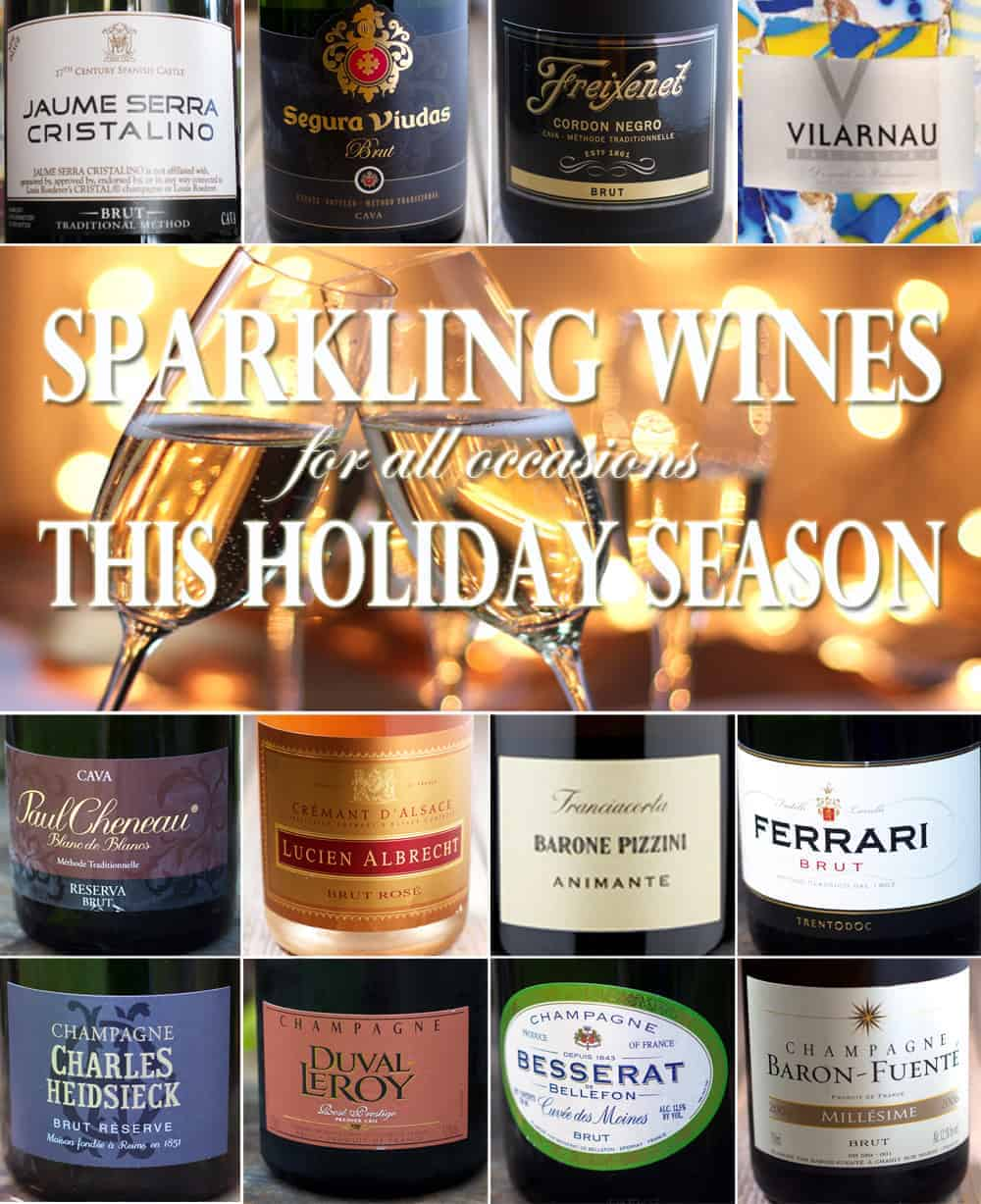 Sparkling wines for all occasions this holiday season. Whether you are hosting a large party or looking for an elegant New Year's Champagne, we've got recommendations from $5 to $80. There's a bubbly for everybody here!