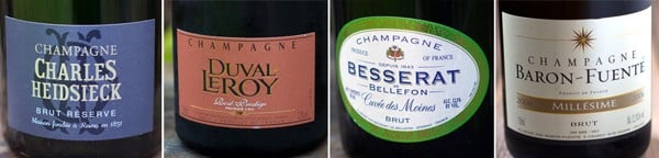 Champagne Recommendations for $30 and up for holidays or New Years.