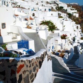 Escape the cold with Santorini wines