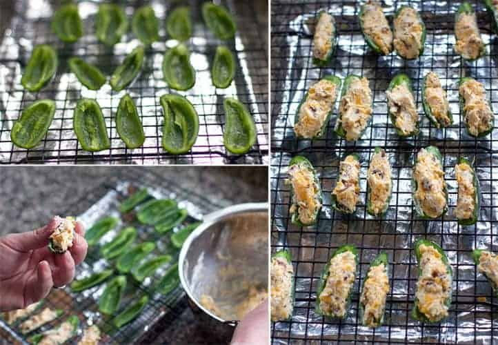 Step-by-step instructions on how to make jalapeño poppers