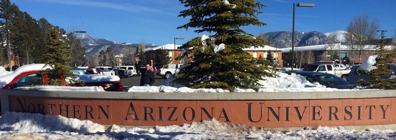 Northern Arizona University Sign