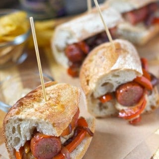 BBQ Corner – Simple Smoked Sausage Sandwiches (Super Bowl 50 ideas, part I)