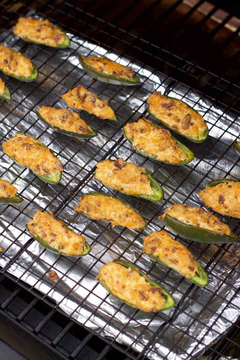 Cooking Jalapeno Poppers on a grill or smoker