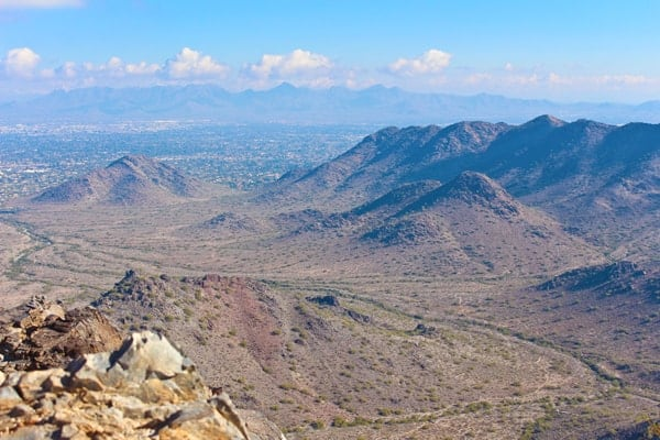 View from Piestewa Peak Summit Trail (Formerly Squaw Peak)