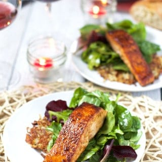 3 Course Grilled Salmon Dinner at Home