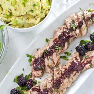 Roasted Pork Tenderloin with Blackberry Wine Sauce — New Article and Recipe on Wine4.Me