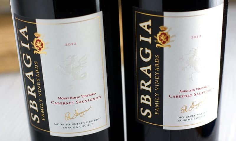 Sbragia Family Vineyards 2012 Cabernet Sauvignons