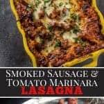 Smoked Sausage Lasagna Pinterest Image