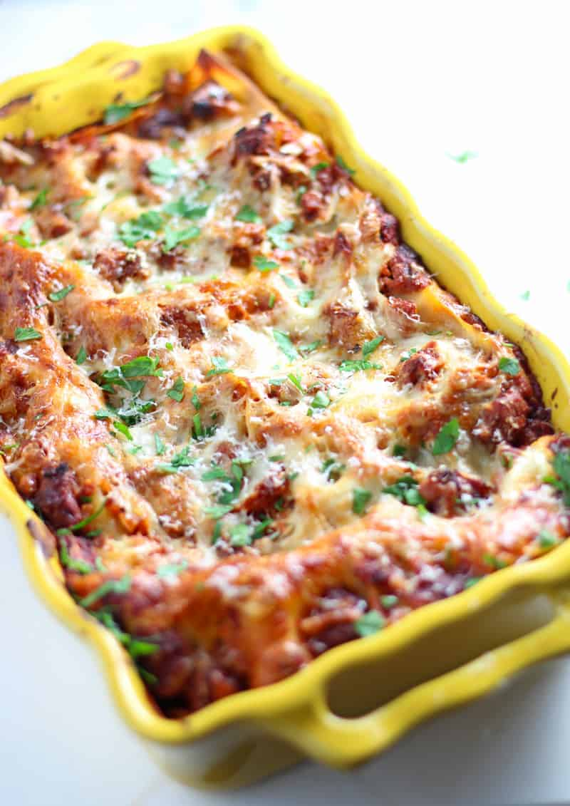 Smoked Sausage Lasagna. The ultimate in comfort foods. Smoked sausage and smoked tomato marinara sauce combined into lasagna love.
