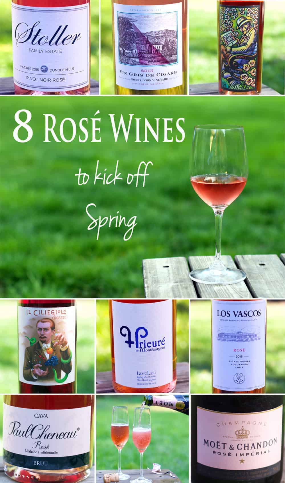 8 Rosé Wines to Kick off Spring 2016